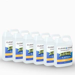 1 Gal Bottle Case | Sports Odor Eliminator Spray - Clear Gear